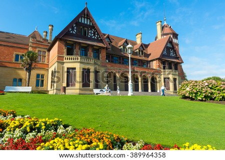 SAN SEBASTIAN, SPAIN - SEP 7: Miramar Palace on September 7, 2015 in San Sebastian, Spain. - stock photo