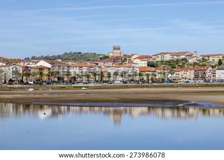 San Vicente de la Barquera, Cantabria, Spain - stock photo