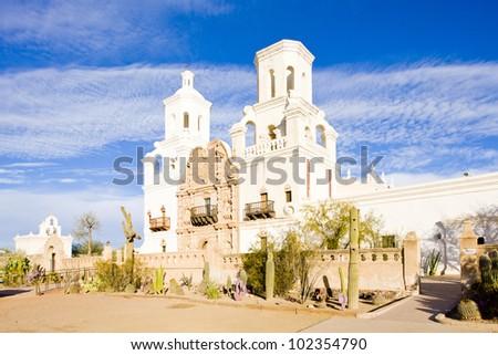 San Xavier del Bac Mission, Arizona, USA - stock photo