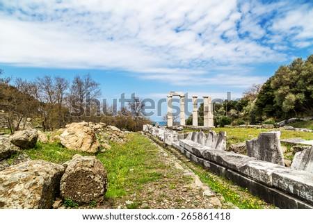 Sanctuary of the Great Gods - stock photo