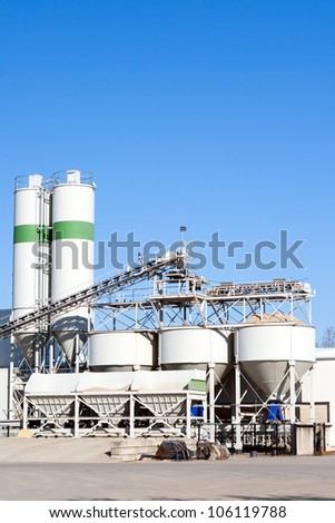 Sand and gravel plant - stock photo