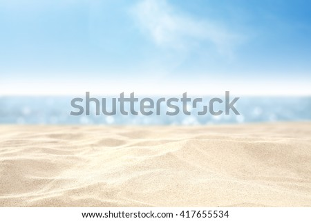 sand and sea and sky  - stock photo