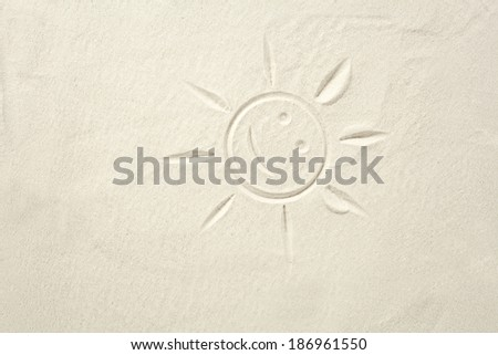 sand and sun sign