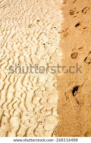 sand and the beach abstract thailand kho tao bay of a  wet  in  south china sea - stock photo