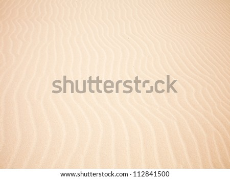 sand and wind pattern in the dunes - stock photo