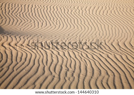 sand and wind pattern on a dune