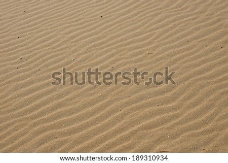 Sand at beach in IJmuiden, The Netherlands - stock photo