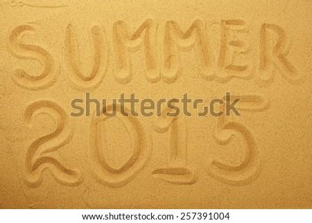 sand background, blur - stock photo