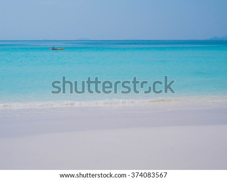 sand beach and blue sea