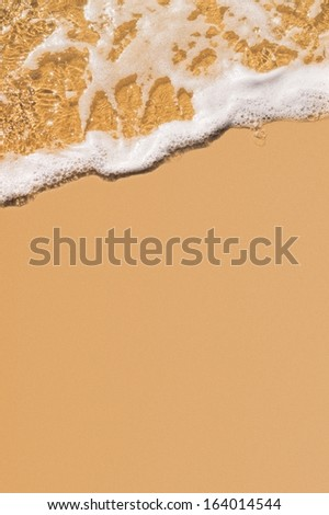 Sand beach and gentle,soft wave - stock photo