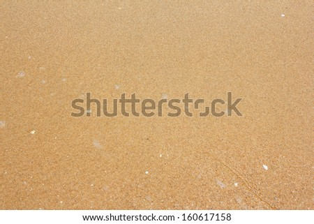 Sand beach and sea water in the afternoon - stock photo