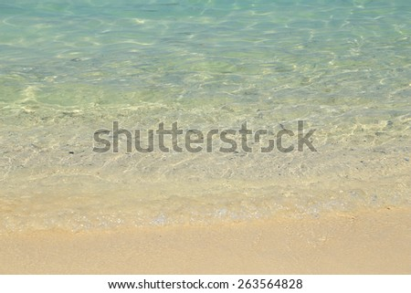 Sand beach and sea wave of phi phi island, Thailand - stock photo