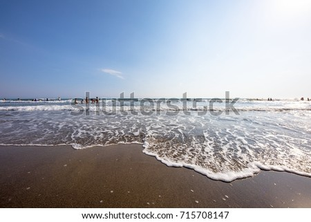 Sand Beach Holiday Background