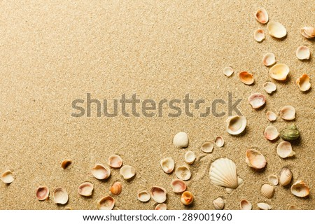 Sand, beach, sea. - stock photo