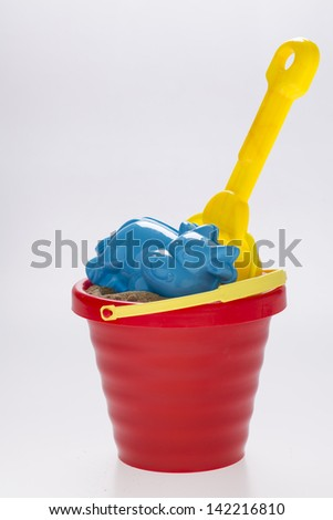 sand bucket isolated