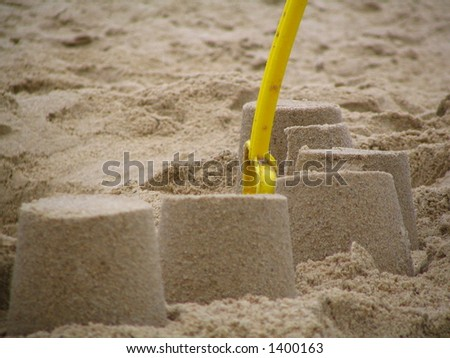 Sand castles and Spade