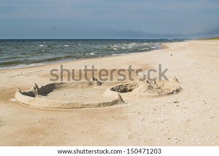 Sand Castles on the Beach of Lithuania