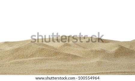 Sand dune on white background - stock photo