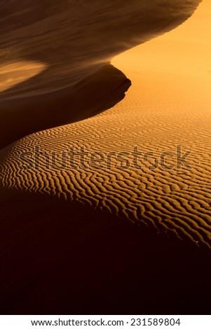 Sand Dune shapes, Sossusvlei, Namib-Naukluft National Park, Namibia - stock photo