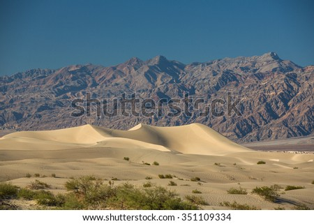 Sand dunes in Death Valley, California - USA.
