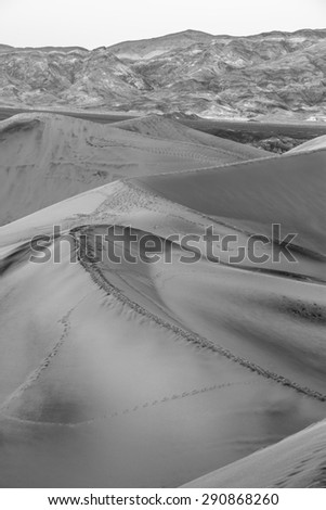 Sand dunes in Death Valley National Park, California - stock photo