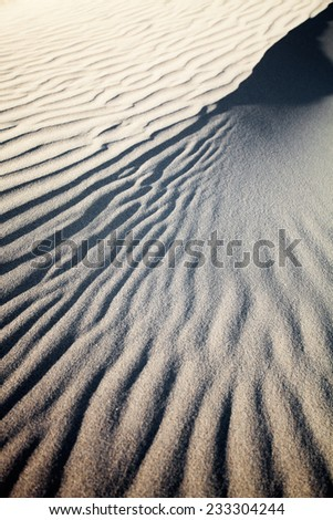 Sand dunes in Gran Canaria, Spain - stock photo