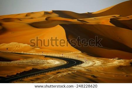 Sand dunes in Liwa, UAE - stock photo