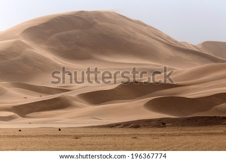 Sand Dunes in Namib Desrt, Namibia, Africa - stock photo