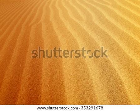 Sand dunes in the Al Ain desert - stock photo