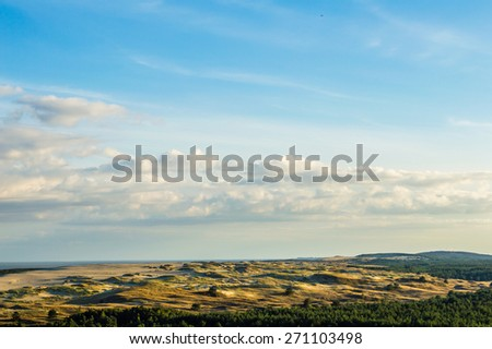 Sand dunes near Nida, Lithuania - stock photo