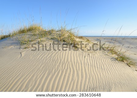 Sand Dunes of Outer Banks in North Carolina - stock photo