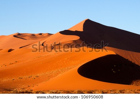 Sand dunes of Sossusvlei, Namibia - stock photo