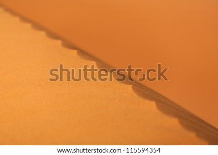 Sand dunes, Sahara Desert - stock photo