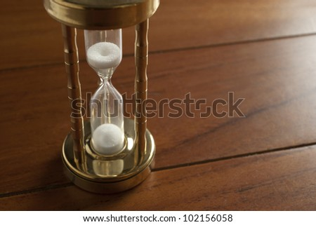 sand glass close up - stock photo