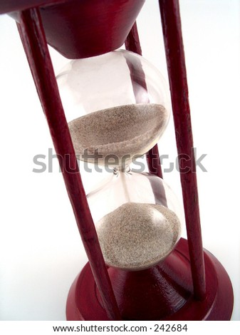 sand glass close-up - stock photo