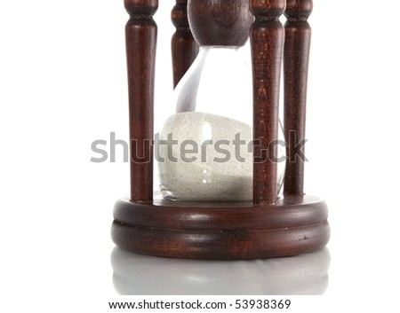 sand glass isolated detail - stock photo