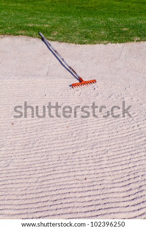 Sand in golf course. - stock photo