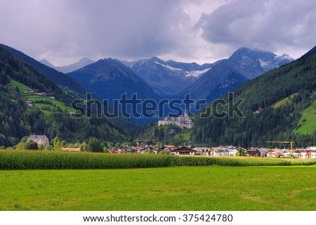 Sand in Taufers in Italy - stock photo