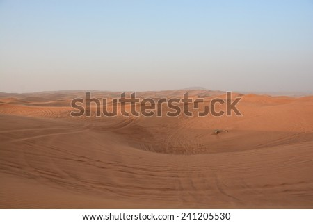 Sand in United Arab Emirates - stock photo