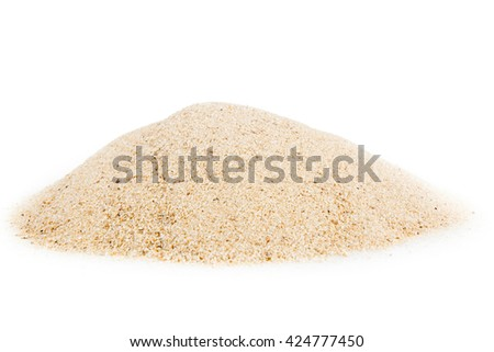 sand isolated on white