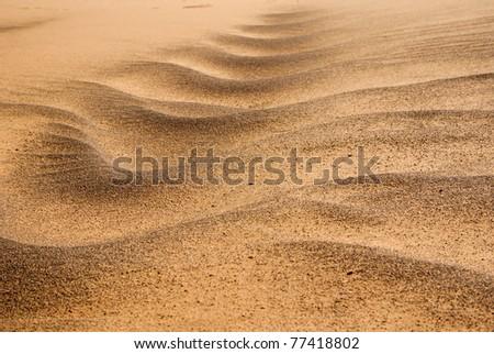 sand lines - stock photo