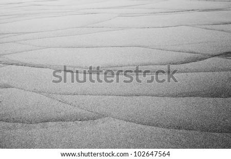 sand mark - stock photo