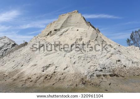 Sand mound - stock photo