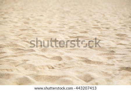Sand on beach with shallow depth of field
