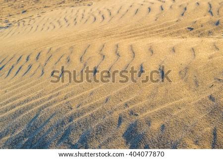 Sand on egyptian desert - stock photo