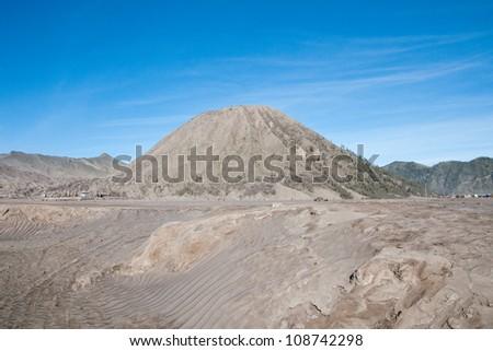 Sand pattern of volcano Mountain Bro mo , indonesia - stock photo