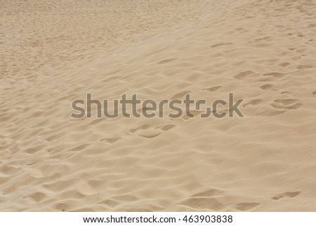Sand patterns after wind  on the Nature reserve, Park Natural, Corralejo, Fuerteventura, Canary Islands, Spain.