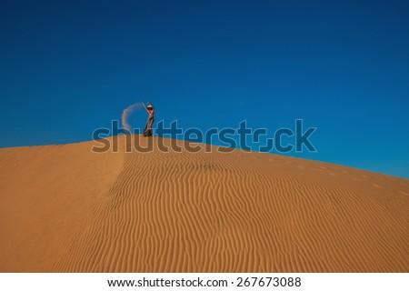 Sand queen - stock photo