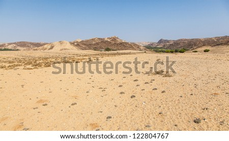 Sand sand everywhere. Desolation and beauty of Damaraland in Namibia.