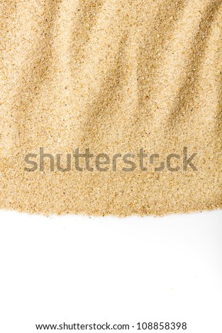 Sand scattering isolated on white background - stock photo